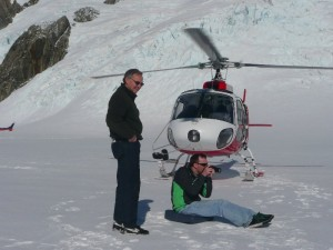 Wheelchair user landing on the top of New Zealand Mountains